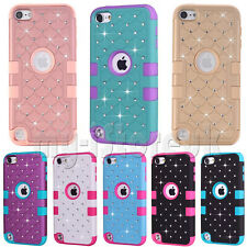 Hybrid Bling Glitter 2 in 1 Case Cover for Apple iPod Touch 5th 6th Generation