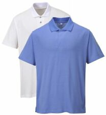 Portwest AS21 hospital blue or white anti-static ESD polo shirt size S-XXL