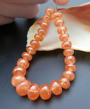 25 RARE LARGE GORGEOUS NATURAL ORANGE SPESSARTINE GARNET POLISHED BEADS 55.65cts