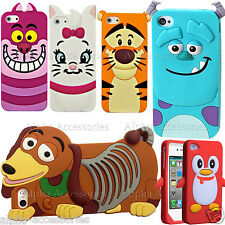 Cartoon Case 3D Soft Silicone Rubber Kids Cover Skin For iPhone Samsung Galaxy
