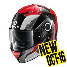 Shark casco integrale SPARTAN CARBON BIONIC Carbon Red Anthracite