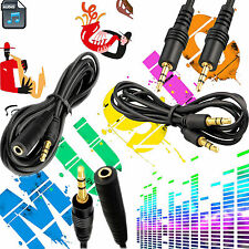 3.5MM Male To Male & Female AUX Jack Audio Cable Headphone Earphone iPod MP3