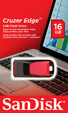Sandisk Cruzer Edge USB Drive / 16 or 32 GB / Retail pack