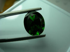 very rare Large untreated GREEN Chrome Diopside Russia gem Russian gemstone 4.88
