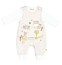 Unisex Baby Boys or Girls Dungaree & Bodysuit Set Outfit (3-6 Months)
