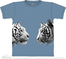 The Mountain White Tiger Face Off Unisex T Shirt Top Tee S-3XL #3218 509