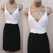 Glamour Next Black & Ivory Soft Mesh Party Wedding Races Summer Cocktail Dress