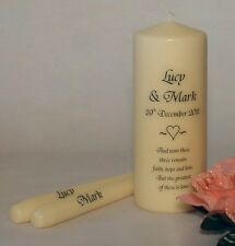 Personalised Faith Hope & Love Unity Candle Set Keepsake Gift