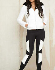 By Alina Pantaloni Donna Leggings Similpelle In Stoffa Skinny A Sigaretta S 36