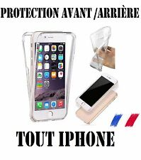 COQUE SILICONE TRANSPARENTE PROTECTION 360° INTEGRAL AVANT + ARRIERE PR IPHONE !