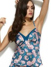 Gossard Japanese Rose Camisole Top Teal Print  * 11611 New Womens Lingerie