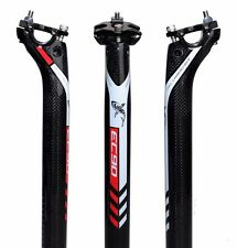 Bicycle Full Carbon Fibre Seat Post MTB Road Bike Seatpost 27.2mm 30.8mm