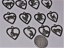 Chinese 12 Zodiac Horoscope Collectible Feng-Shui Lucky heart shape necklace