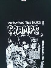 THE CRAMPS - WILD PSYCHOTIC TEEN SOUNDS - 100% COTTON T-SHIRT