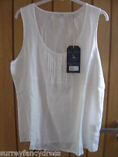 Jack Wills Suffield Ladies White Vest Top Size 8 16 NEW (tags) RRP £34.50(Ref Z)