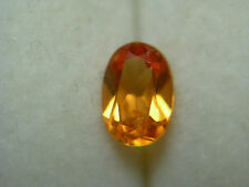 bright Orange Spessartite Garnet gem Nigeria Mandarin Spessartine Nigerian oval