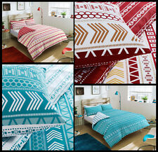 Pieridae Mega Geo Red And Teal Duvet Cover Bedding Quilt Set And Pillowcases