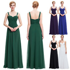 Lady's Long Chiffon Dress Sweetheart Party Cocktail Wedding Bridesmaid Ball Gown