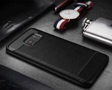 *ELEGANCE*Brushed Carbon Fibre Back Cover Case For Samsung Galaxy S7 Edge *