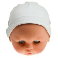 Baby girls boys unisex white 100% cotton hat new born newborn 0-3 months hats