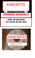 ANSCHUTZ AIRGUN AIR RIFLE GUN OWNERS MANUAL USER MANUALS BOOKS disc #Airgun