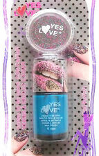 VERNIS A ONGLES CAVIAR YES LOVE NAIL ART BLEU TURQUOISE VERNIS + PERLES