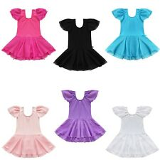 Girls Kids Gymnastics Skating Dance Party Tutu Ballet Leotard Outfit Skirt Dress