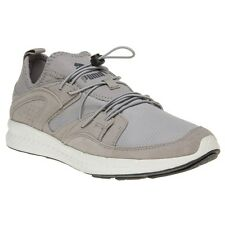 New Mens Puma Grey Blaze Ignite Elemental Suede Trainers Running Style Lace Up