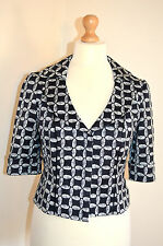 DESIGNER COAST BLACK&WHITE GEOMETRIC PRINT WEDDING OCCASION JACKET UK14 VGC