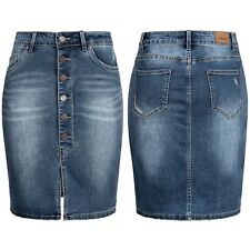 Sublevel Damen Jeans Rock LSL-266 Jeansrock Damenrock Röckchen denim kurz Skirt