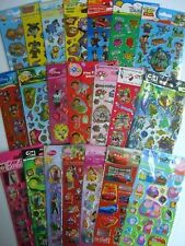 CHARACTER Fun Foiled STICKERS - 30 Design Range - Disney/Peppa/Moshi & more