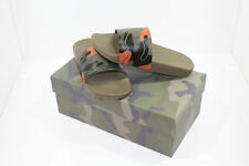 Valentino Camouflage Sliders Orange