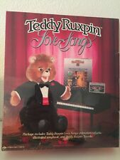 NISP 1986 WORLDS OF WONDER TEDDY RUXPIN LOVE SONGS TAPE BOOK & TUXEDO OUTFIT NEW