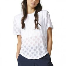 ADIDAS Burnouts PUNTI MAGLIETTA T-SHIRT DONNA LIBRI ESTATE ORIGINALI ay6841