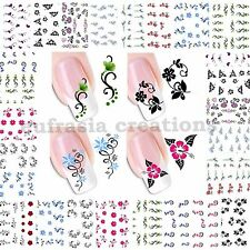 Adesivi Unghie decorazione Stickers Water nail art Transfer Tattoo