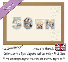 50th Birthday Signing Photo Frame Double Mount Guest Book 873D Photos in a Word