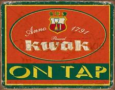 KWAK LAGER BEER ON TAP PUB BAR  METAL TIN SIGN POSTER WALL PLAQUE