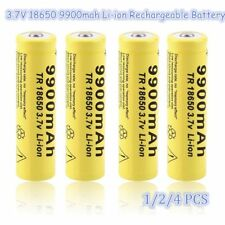 1/2/4 pcs 3.7V 18650 9900mah Li-ion Rechargeable Battery For Flashlight Torch D3