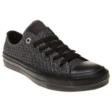 New Womens Converse Grey Chuck Taylor All Star II Low Textile Trainers Canvas