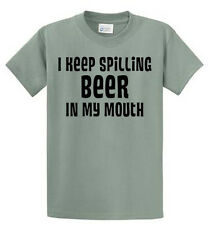 Keep Spilling Beer Printed Tees Mens Regular to Big and Tall Sizes Port & Co