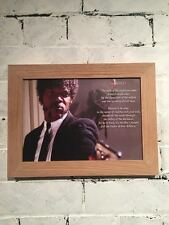 A4 framed picture of Samuel L Jackson in Pulp Fiction with biblical quote