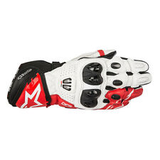 Alpinestars GP Pro R2 Black / White / Red Motorcycle Leather Gloves   All Sizes
