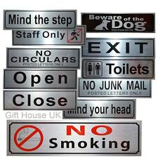 Sign Silver Shop Business Letterbox Office/Door/Retail Sign Self Adhesive Notice