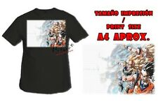 T-SHIRT ONDA VITAL DRAGON BALL NERA tshirt custom es