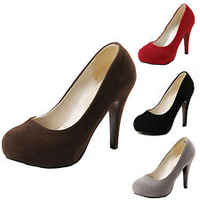 party Ladies platform high heels Career stiletto Vintage Womens Pumps Shoes Size