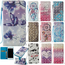 Cute Patterns PU Leather Case for Various Phones Protective Magnetic Flip Cover