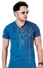 Branded Men's T-Shirt V-Neck Casual 100% Cotton FNF