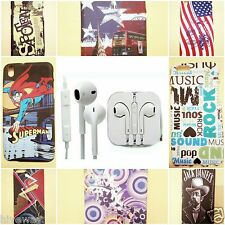 Earphone headphone for apple iPhone,Htc Samsung and 3.5mm jack with Mobile cover