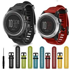 Replacement Silicone Strap Wristband Watch Band For Garmin Fenix 3 /HR Fitness