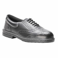 Mens Black Leather Steel Toe Cap Executive Safety Brogue Shoes FW46